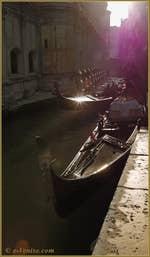 Gondoles sur le rio dei Miracoli