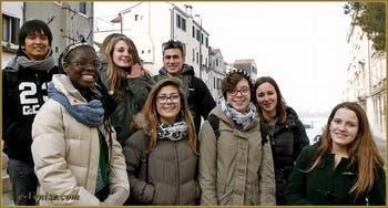 Les vœux des élèves du Lycée du Campo Santa Giustina, dans le Sestier du Castello à Venise.
