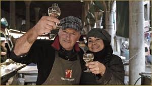 Massimo et Maria Zane, marchands de poisson au Marché du Rialto.