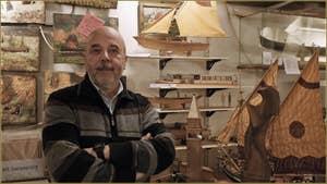 Gilberto Penzo, maquettes de bateaux traditionnels vénitiens, dans le Sestier de San Polo à Venise.