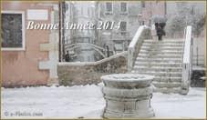 La neige à Venise sur le Campo San Boldo