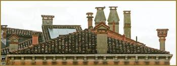 Cheminées Vénitiennes, Rio de la Panada, dans le Sestier du Cannaregio à Venise.