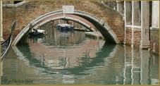 Le rio et le pont Widmann, dans le Sestier du Cannaregio à Venise