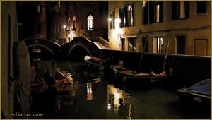 Les ponts del Paradiso et dei Preti et le rio del Mondo Novo, dans le Sestier du Castello à Venise.