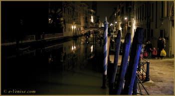 La Fondamenta San Lorenzo de nuit, dans le Sestier du Castello à Venise.