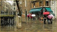 Le Campo dei Santi Apostoli sous la pluie