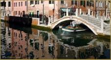 Le pont de Borgo, sur le rio delle Eremite, dans le Sestier du Dorsoduro