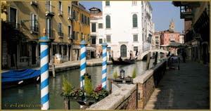 La Fondamenta Bragadin, le long du rio San Vio, dans le Sestier du Dorsoduro à Venise.