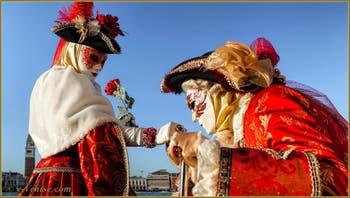 Le Carnaval de Venise : Casanova aux pieds de la Beauté.