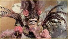 Le Carnaval de Venise : Plumes Roses et Blanches