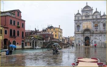 La Pluie sur le Campo San Giovanni e Paolo