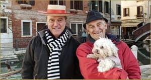 Vittorio Postin, Gondolier, et Romano Pompeo, du Coordinamento national de la Voga alla Veneta