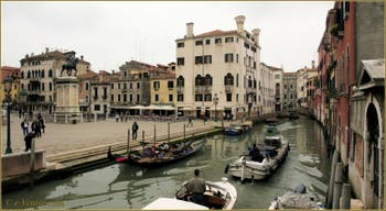 Le rio dei Mendicanti et le Campo San Giovanni e Paolo, dans le Sestier du Castello à Venise.