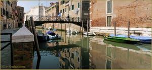 Le rio, le pont et la Fondamenta de la Tana, dans le Sestier du Castello à Venise.