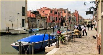 La Fondamenta de le Capuzzine le long du rio de San Girolamo, dans le Sestier du Cannaregio à Venise.
