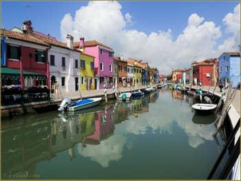 Le rio de la Giudecca et la Fondamenta de la Pescheria à Burano
