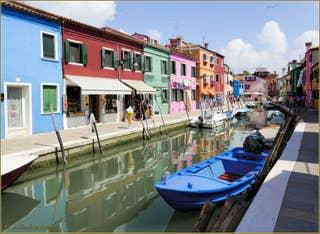 Vidéos de l'île de Burano à Venise.