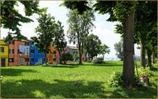 Le parc de la Corte Comare à Burano