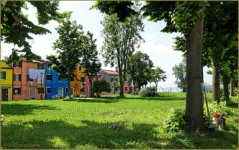 Le parc de la Corte Comare sur l'île de Burano