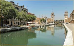 Le rio de l'Arsenal, dans le Sestier du Castello à Venise.