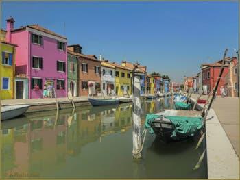 Le rio de la Giudecca, le long de la Fondamenta de la Pescheria à Burano.