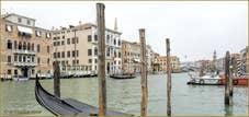 Le Grand Canal de Venise en gris et bleu