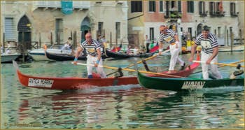 Regata Storica de Venise : La Régate des hommes sur Gondolini