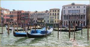 Eventail de Gondoles sur le Grand Canal de Venise.