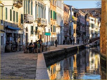 Le Palazzo Michiel, sur la Fondamenta et le long du rio de la Misericordia, dans le Sestier du Cannaregio à Venise.