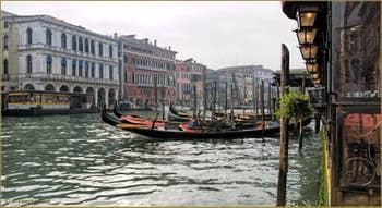 Gondoles sur le Grand Canal