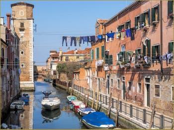 Le Rio de la Tana et l'Arsenal de Venise dans le Sestier du Castello.