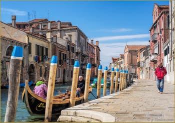 Le Rio de la Madona de l'Orto, le long la Fondamenta Gasparo Contarini, dans le Sestier du Cannaregio à Venise.