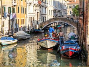 Le Rio de Santa Fosca et le pont Vendramin, dans le Sestier du Cannaregio à Venise.