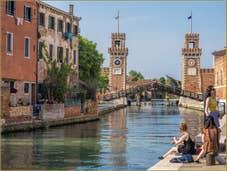 Soleil et Bronzette à l'Arsenal de Venise