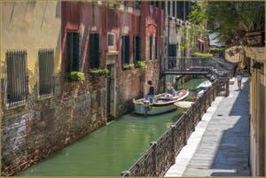 La Fondamenta del Remedio le long du Rio de San Zaninovo, dans le Sestier du Castello à Venise.