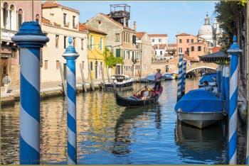Gondole Rio dei Ognissanti, le long de la Fondamenta Bonlini, dans le Sestier du Dorsoduro à Venise.