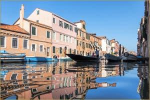 La Fondamenta et le Rio de la Sensa, dans le Sestier du Cannaregio à Venise.