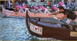 Régate des Caorline à la Regata Storica, la Régate Historique de Venise.