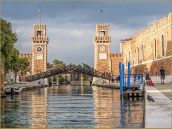 Les Tours de l'Arsenal, dans le Sestier du Castello à Venise.