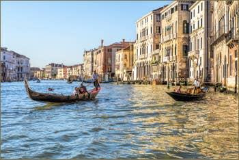 Le Grand Canal de Venise en Or et Azur
