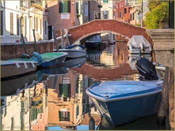 Le Rio, le pont et la Fondamenta de Sant'Andrea, dans le Sestier du Cannaregio à Venise.