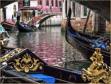 La Vie en Rose dans l'Or des Gondoles de Venise