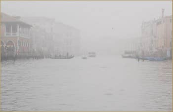 Brouillard Gris Perle sur le Grand Canal