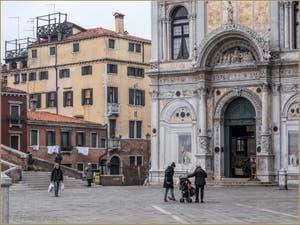 San Giovanni e Paolo et la Scuola Grande San Marco, dans le Castello à Venise.