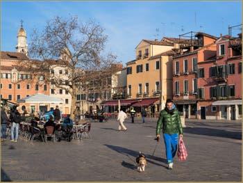 Le Campo Santa Margarita, dans le Sestier du Dorsoduro à Venise.