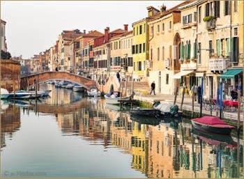 Rio de San Girolamo, le long de la Fondamenta dei Ormesini, dans le Sestier du Cannaregio à Venise.