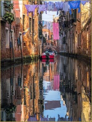 Lessive et Couleurs, Rio dei Scudi Santa Ternita, dans le Castello à Venise.