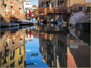 Rio del Getho et pont di Gheto Nuovissimo, dans le Cannaregio à Venise.