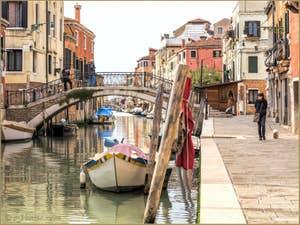 Le Rio de la Sensa et le pont dei Mori, dans le Cannaregio à Venise.