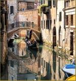 Gondole sur le Rio Menuo o de la Verona à Venise